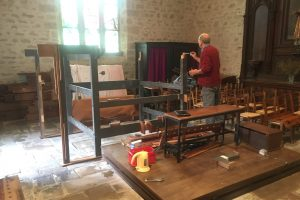 Organ reassembly in Jugon, France