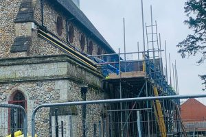 roof work at Graylingwell Chapel